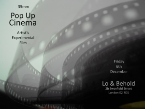 pop up cinema flyer